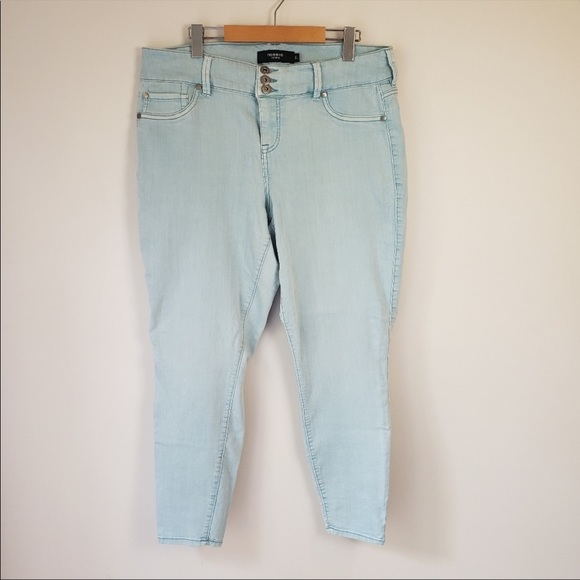 Torrid Turquoise Skinny Jeans High Waisted Plus